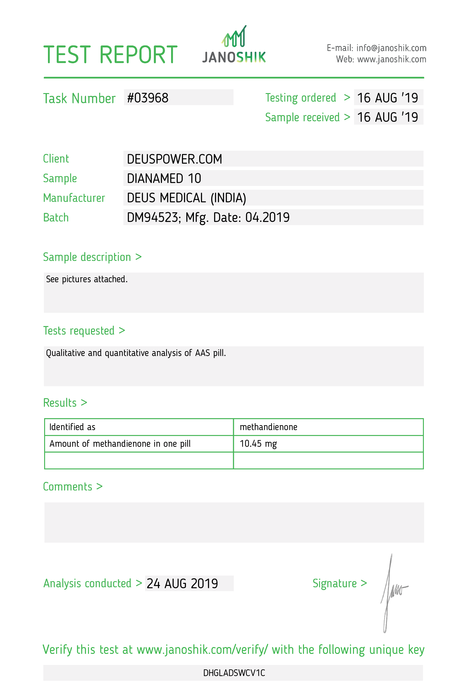 Laboratory Test for Deus Medical DIANAMED 10_Test Report.png