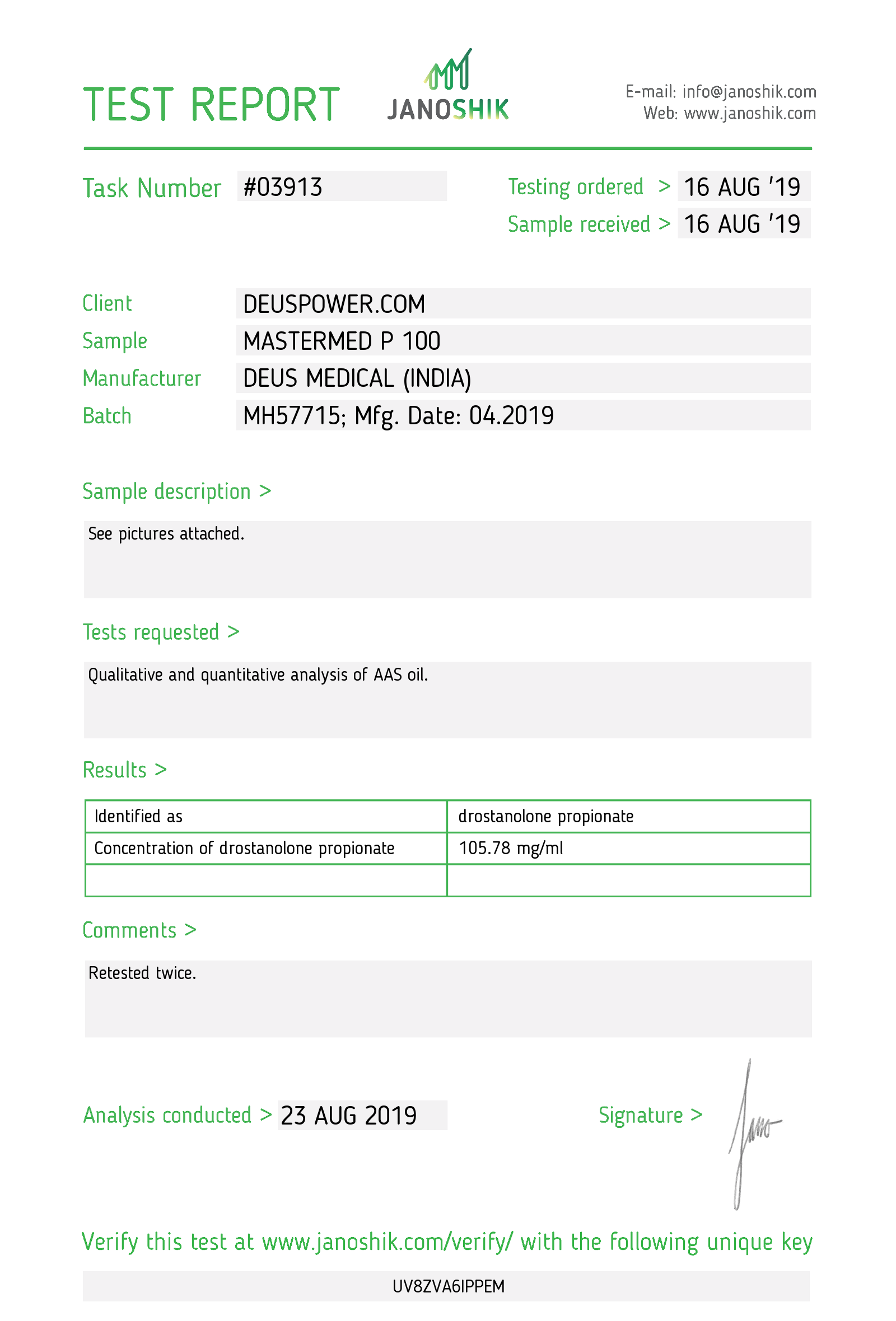 Laboratory Test for Deus Medical MASTERMED P 100_Test Report.png