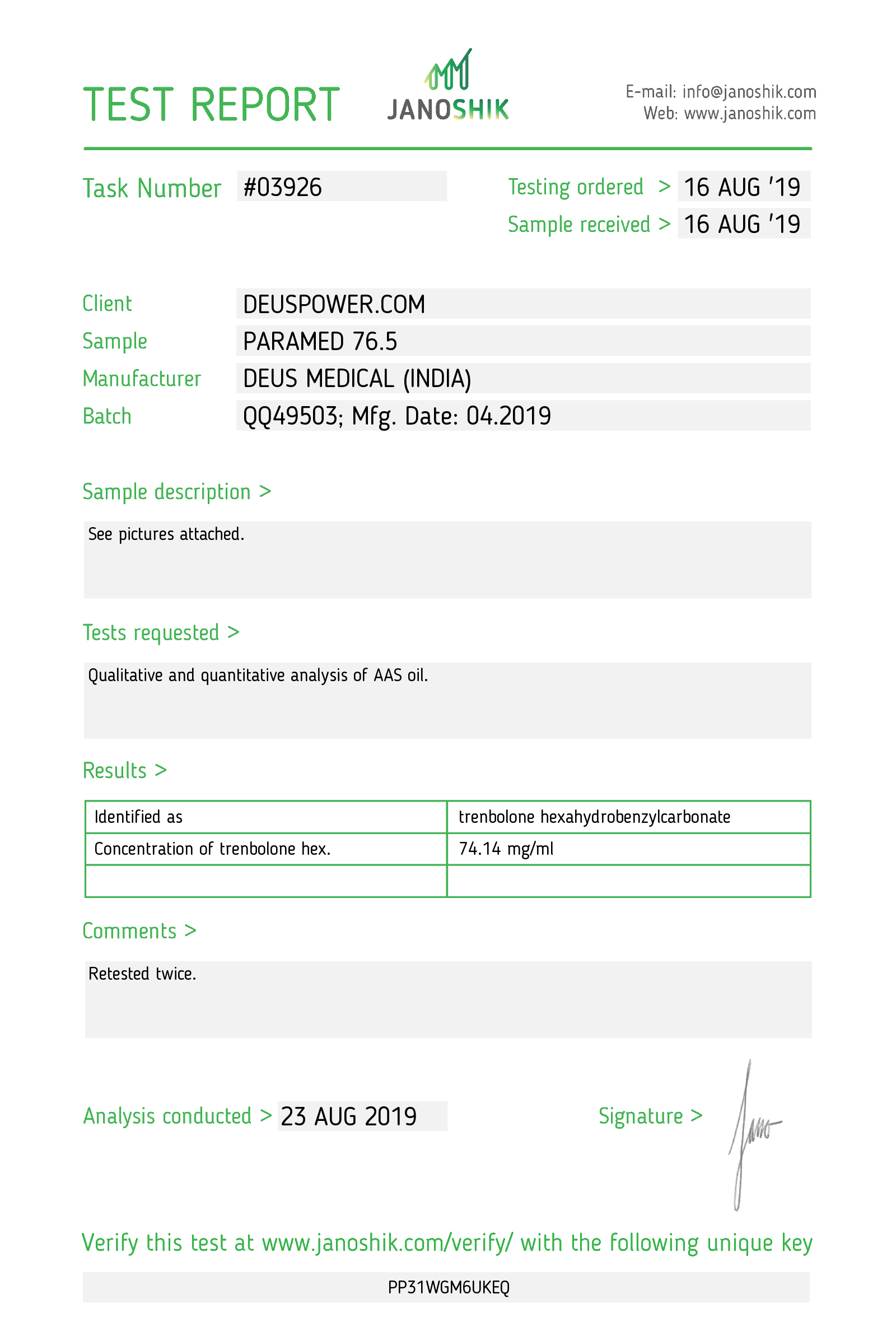 Laboratory Test for Deus Medical PARAMED 76.5_Test Report.png